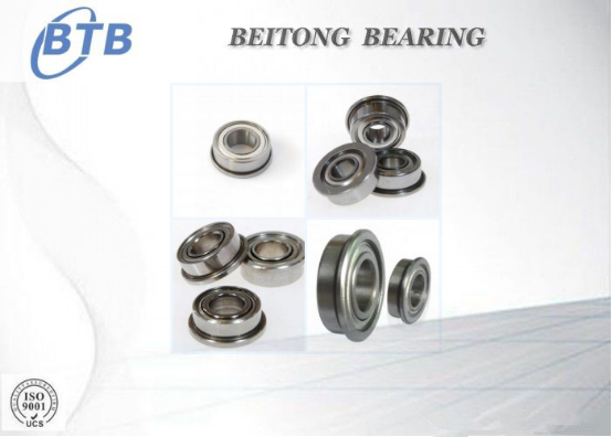 Chrome Steel Flange Type Bearing , F6800ZZ Machine Tool Bearing