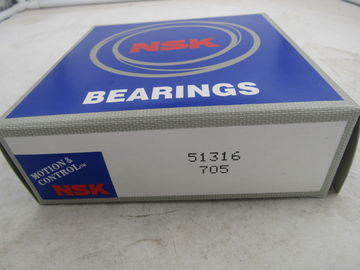 High Precision Brass Cage Thrust Ball Bearing , Car Thrust Bearing 51316 51317