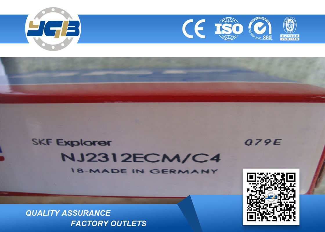 NJ2312 ECM C4 Single Row Cylindrical Roller Thrust Bearing For Engineering Machinery